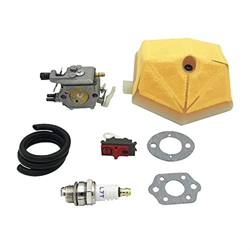 HCO-YU Kit de Filtro de Combustible de línea de Combustible de Filtro de Aire de carburador Ajuste para Husqvarna 51 55 Motosierra de Ranchero Reemplazar Partes Walbro WT-170 Carbo