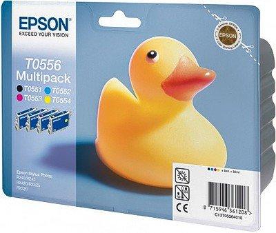 4 x Epson Patronen für Epson Stylus Photo R 245, Multipack (1xBk, je 1x C, M, Y) Druckerpatronen für R245, 32ml