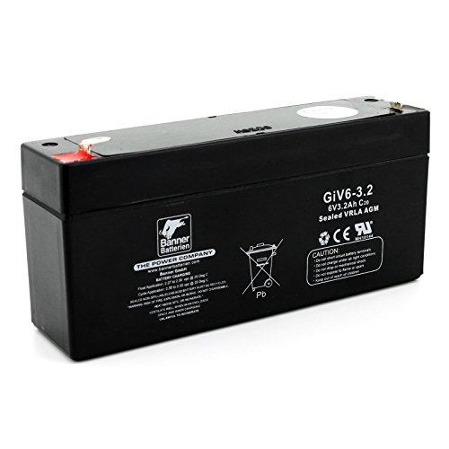 Banner Batterie Stand by Bull 6 Volt 3,2Ah Typ GiV 06-3.2 Akku Notstrombatterie Brandmeldeanlage Alarmanlage