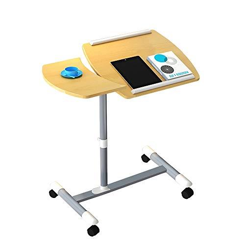 Multifunktion Beistelltisch,Laptoptisch Pflegetisch Betttisch Sofatisch Rolltisch Neigbare Tischplatte Mit Rollen Höhenverstellbar Betttisch Höhe