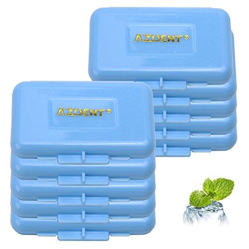 AZDENT® Kieferorthopädische Klammer-Sonnenblende-Dental-Wachs-Streifen (Packung mit 10) Minze