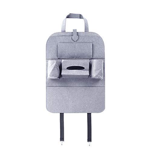 YUSHHO56T Auto Opslag Tas Interieur Opbergtas Auto Auto Achterbank Organizer Houder Vilt Covers Seat Opslag Container Tas - Licht Grijs