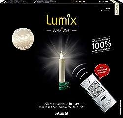 KRINNER Lumix LUMIX Superlight Mini Metallic, kabellose, von Hand lackierte Power LED Christbaumkerzen 12er Basis-Set, ABS Kunststoff, 0.014 W, cashmere, 1.5 x 1.5 x 9 cm