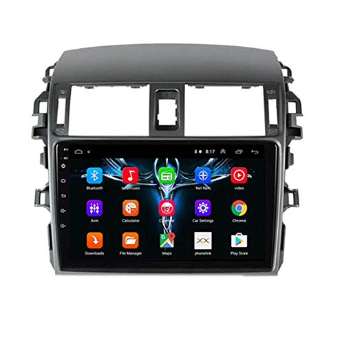 NBVNBV Multimedia Video Player Touchscreen Auto GPS Navigationssystem Radio Fit für T-oyota Corolla E140/150 2007-2016 Bluetooth Wi-Fi / 4G AM/FM-Tuner,F
