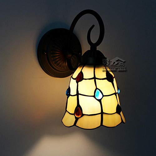 NZJSY Modern Kreative Wandleuchte Single Head Wandleuchte Glas europäischen mediterranen Wohnzimmer Schlafzimmer Bad Spiegel vor Gang Cafe Bar Licht - L Abschnitt (15cm Phoenix Lampe)