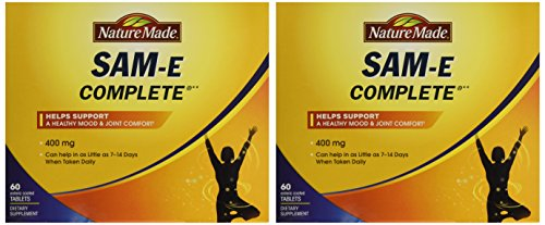 Nature Made SAM-e Complete 400 mg - 2 Boxes, 60 Enteric Tablets Each