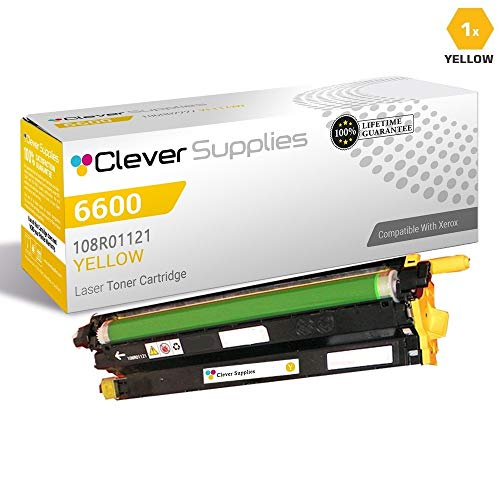 CS Compatible Drum Cartridge Replacement for Xerox 6600 108R01121 Yellow for Phaser 6600 Phaser 6600DN Phaser 6600N Phaser 6600YDN WorkCentre 6605 WorkCentre 6605DN WorkCentre 6605N -  Clever Supplies, CS-Xerox-6600-2nd-Y