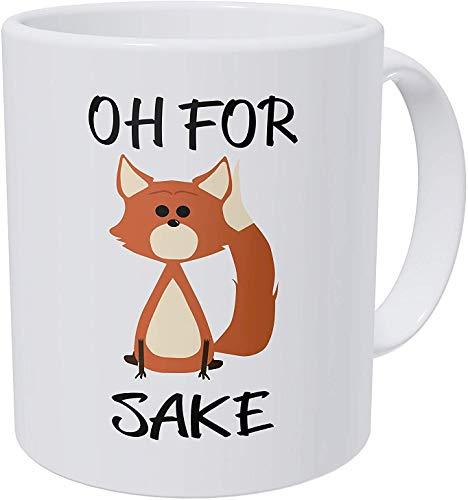 O5KFD&8 11 Unze Tee mit Griff Hochwertige Keramik Unique Tasse - Oh for Fox Sake 11 Ounces Ceramic Coffee Mug Männer Geschenke, Anzug für Familie verwenden