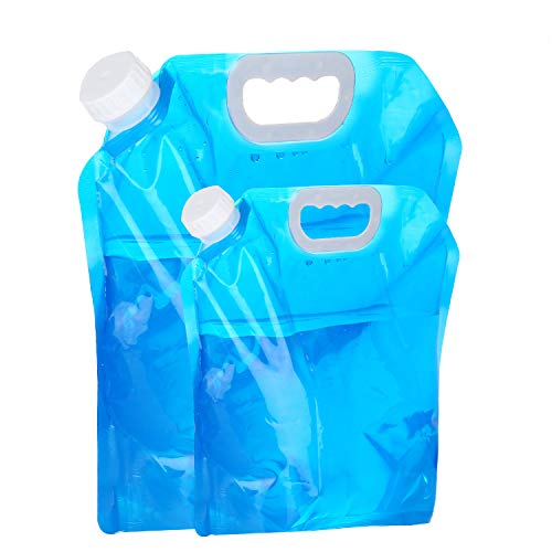 VABNEER Wasserkanister Faltbar Wasserbeutel Camping 5L + 10L Tragbar Faltbarer Trinkwasser Für Wandern Camping Picknick Travel BBQ