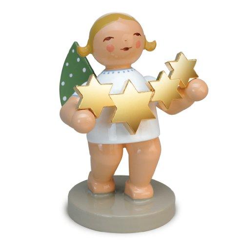 Wendt & Kühn 650/118 Goldedition Sternenfänger - Engel mit vergoldeten Sternen