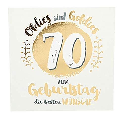 Depesche 8144.006 Glückwunschkarte mit Glanzeffekt und Musik, 70. Geburtstag, Mehrfarbig