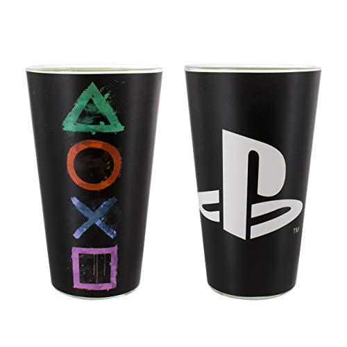 Playstation Trinkglas, Mehrfarbig, 9x 9x 15cm