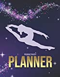Productivity Planner: Gymnastics Gymnast - Purple Sparkle Theme / Undated Weekly Organizer / 52-Week Life Journal With To Do List - Habit and Goal ... Calendar / Large Time Management Agenda Gift