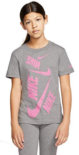 Nike Kinder NSW DPTL Swoosh T-Shirt, Carbon Heather, M