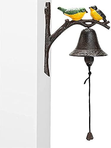 Batacchi per porte Campanello vintage per arredamento da parete, porta anteriore / portone principale Ghisa campane in ghisa facile da installare, modello manualmente scuotendo campanello, cortile / a