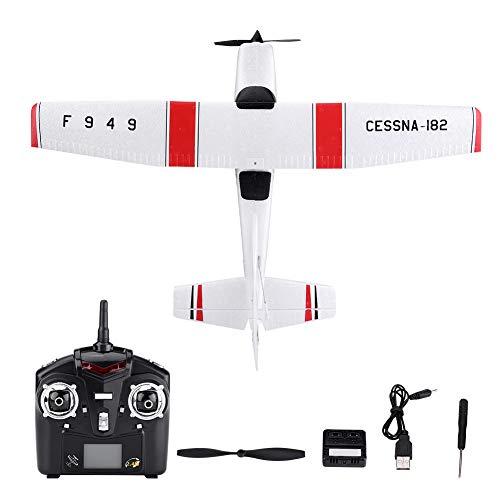 Jarchii Juguete de avión RC, 3 Canales Control Remoto Avión de ala Fija Juguete de avión RC con Cable USB para Principiantes y Jugadores de Juego de Vuelo intermedio