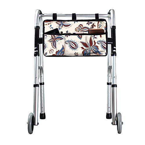 """Walker Bag, Durable Walker Rollator Scooter Accessory Storage Tote Bag, Folding Walkers Organizer Pouch Caddy, Multi-Purpose Walker Accessories for Elderly,Handicap,Disabled and Seniors,17""""Lx9""""W"""