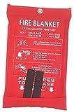 1,2 x 1,2 m Coperta antincendio di emergenza, coperta ignifuga di emergenza, copertura di ...
