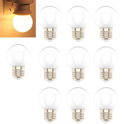 E27 1W Warmweiß LED Glühbirne, Geeignet für Hauptbeleuchtung, Party Dekoration, 10er-Pack