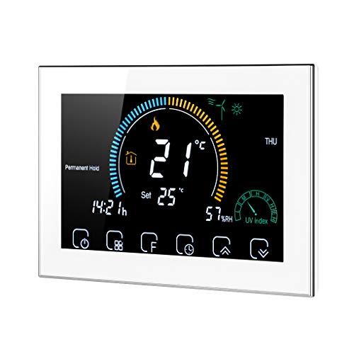 Vokmon Temperatura General de Las Habitaciones termostato programable LCD retroiluminado de calefacción eléctrica táctil Sn termostato eléctrico Controller, Blanca