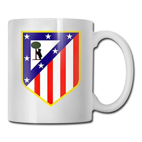 Taza de café divertida del Atlético Madrid Club – 11 taza de café de cerámica – la mejor idea de regalo para Navidad, San Valentín y cumpleaños, día del padre y día de la madre