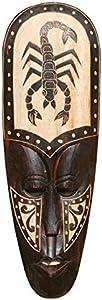 Schöne 50 cm Holz Wandmaske Skorpion Tier Afrika Maske 62