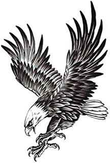 12X20cm Fashion and creative Eagle Tattoo stickers personality waterproof Tattoo paste for unsiex