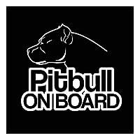 車 ステッカー犬 ボード上のピットブル犬の警告車のステッカー防水デカールラップトップスーツケースオートバイオートアクセサリーPvc、16Cm * 13Cm