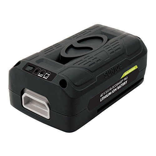Snow Joe + Sun Joe iONMAX iBAT40XR EcoSharp Pro Lithium-Ion Battery | 40 Volt | 5.0 Ah