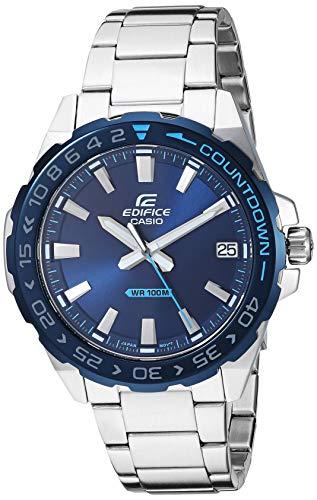 Casio Men's Edifice Quartz Stainless-Steel Strap, Silver, 21 Casual Watch (Model: EFV-120DB-2AVCR)