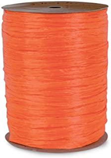 Per Roll Coral Pearlized Raffia 1//2W x 100 Yds Pack of 2