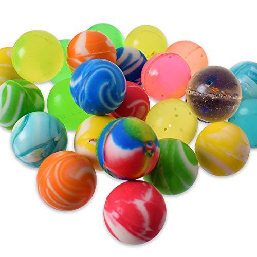 TE-Trend 25 Stück Flummis Hüpfball Gummiball Flummi Set Bouncy Ball Springball Dopsball Mitgebsel Gummibälle 20mm Mehrfarbig