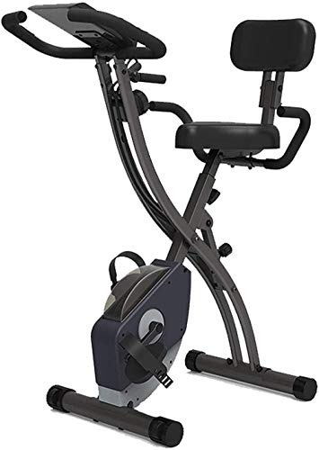Bicicletas de ejercicio verticales Bicicleta de ejercicio Bicicleta de ejercicio plegable con cordón Pantalla de visualización trasera Soporte de teléfono Bicicleta de fitness Bicicletas giratorias d