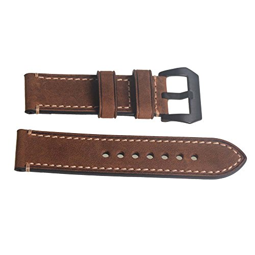 Genuine Leather Brown Watch Strap W…