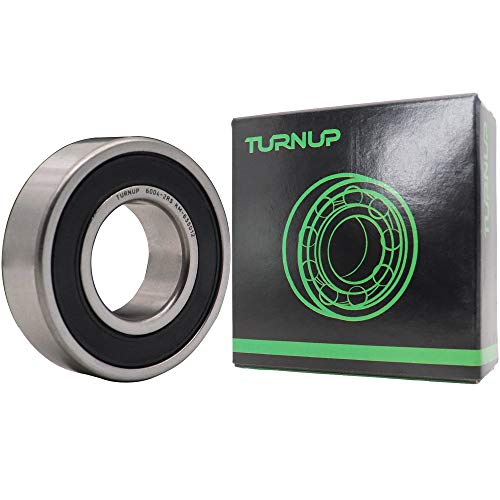 (2 Pcs) TURNUP 6004-2RS Rubber Seal on Both Sides Deep Groove Ball Bearings 20x42x12mm,Pre-Lubricated Bearings,Stable Performance.