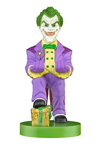 Cable Guy Joker, Soporte de sujeción y/o Carga para Mando de Consola y/o Smartphone de tu Personaje Favorito con Licencia de DC. Producto con Licencia Oficial. Exquisite Gaming.