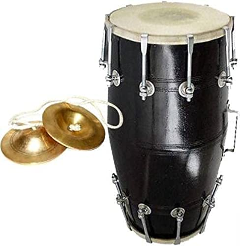 Apex musicals indian flock handmade redwood dholak drum music instrument professinal home dholak blue color