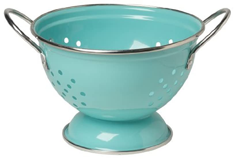 Now Designs Metal Colander, 1-Quart, Turquoise by Now Designs