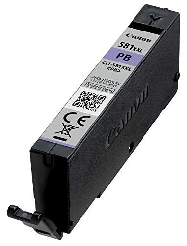 Canon CLI-581 XXL PB Tintenpatronen - Foto Blau Tintentank sehr hohe Reichweite 11,7 ml für PIXMA Tintenstrahldrucker ORIGINAL