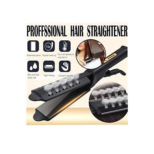 LauVery Hair Straightener, Four-Gear Ceramic Tourmaline Ionic Flat Iron Hair Straightener for Women Girls (Black, 1 PC)