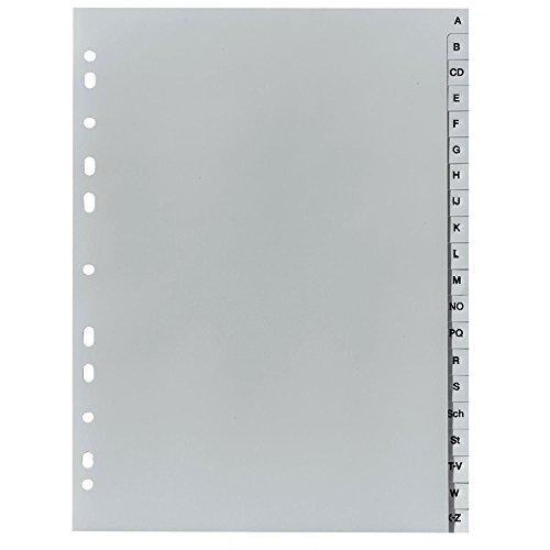 Herlitz 10843522 - Separadores alfabéticos con índice (A-Z, A4, 21 x 29.7 cm, PP con  eurolochung)