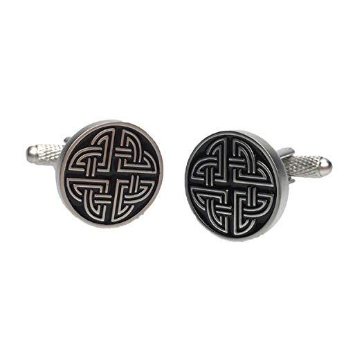 Keltischer Knoten Manschettenknöpfe - von onyx art - Geschenk Verpackt - Damen Unisex Kelte Manschettenknöpfe