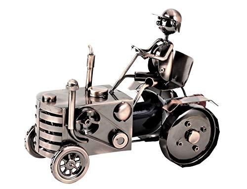 Flaschenhalter Wein Traktor Metall Flaschenständer