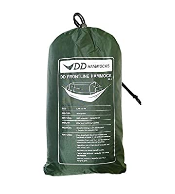 DD Frontline Hammock - Lightweight Camping, Jungle Hammock with Mosquito Net (Olive Green)