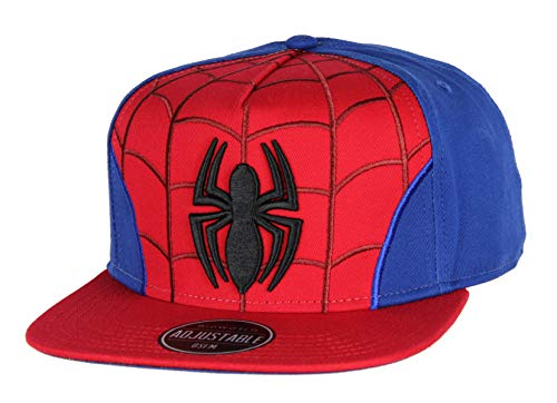 Marvel Comics Spiderman Embroidered Classic Character Costume Adjustable Snapback Hat