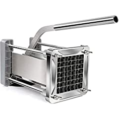 ➤ HIGH QUALITY BLADE - Made of 304 stainless steel, robust, restaurant-grade blade engineered for years of use., slice fast and easy to use, just with little effort for cutting the potato, carrots, cucumbers, eggplant, onion into 1/2 inch thick strip...