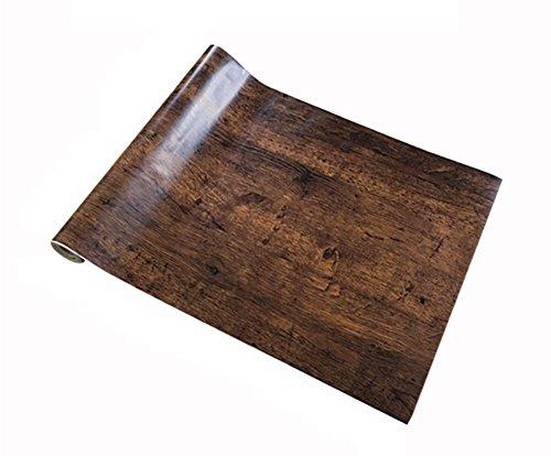 壁紙シール10m 壁紙レンガ 壁紙はがせる 粘着シートリメイクシート木目調 ウッド ブロックの柄 ウォールス...