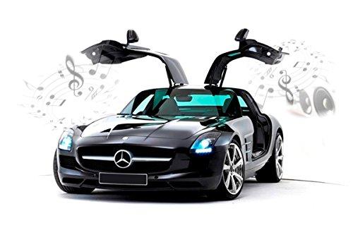 Silverlit Scala 1:16 Mercedes-Benz SLS AMG I-Connect Bluetooth Supercar con Sound System (Nero)