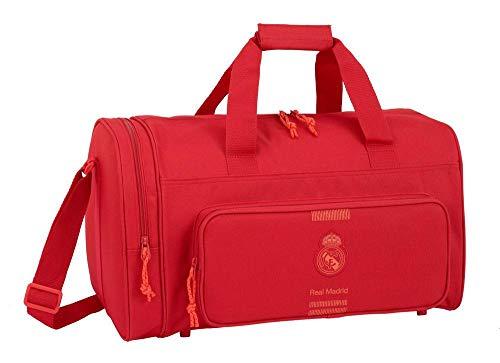 Real madrid cf Bolsa Deporte Bolso de Viaje 47 cm, Rojo