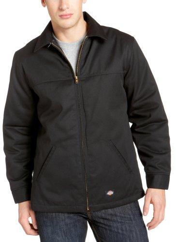 Dickies Men's Hip Length Twill Jacket, Black, Large